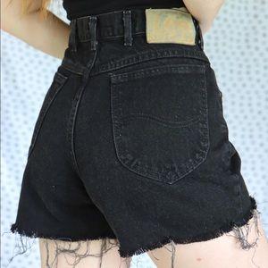 Vintage Black Lee Shorts